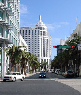 Miami Beach, Ocean Drive, Washington Ave.