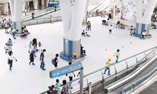 Best airports to be delayed - Seoul Airport Icerink
