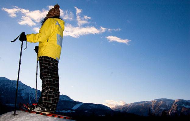 Top vacation destinations - snowshoeing