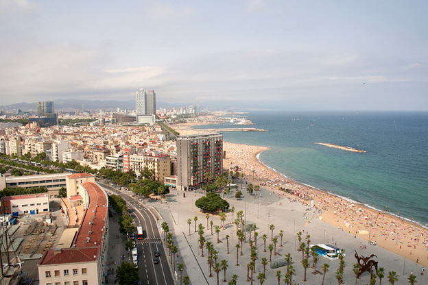 sandy-beach-of-barcelona-spain