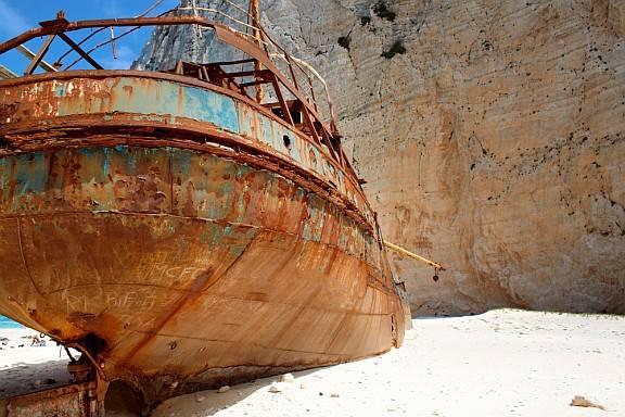 Zakynthos' famous shipwreck