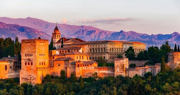 Alhambra Palace and Fortress Complex in Granada, Spain
