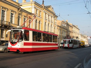 Tram in St. Petersburg