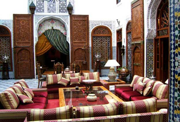 living room in Morocco