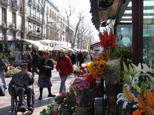 Las Ramblas at the jewel of the Mediterranean