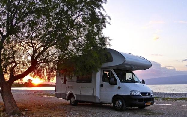 motorhome by the sea