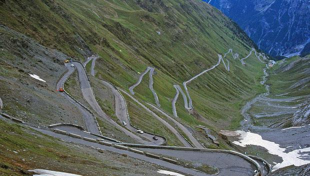 Stelvio Pass in Italy the scariest places to drive on earth
