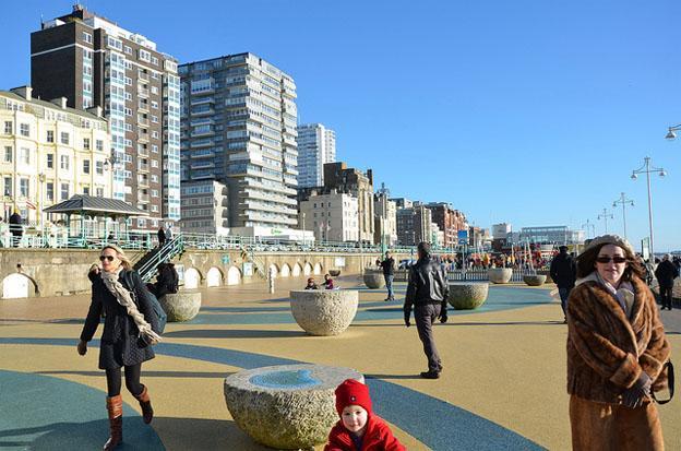 Brighton and Hove sea side