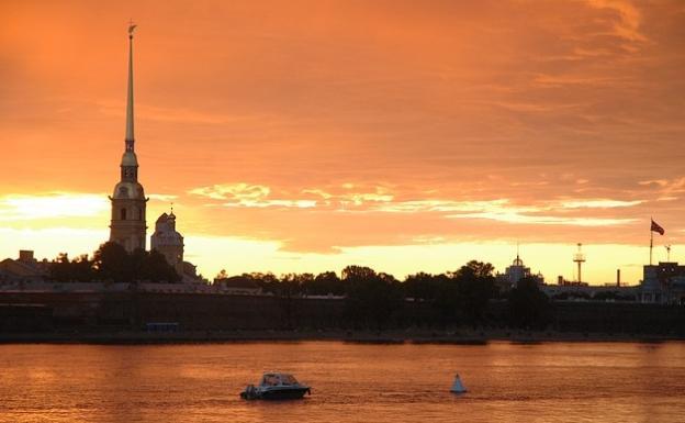 St Petersburg Russia Sunrise White Nights
