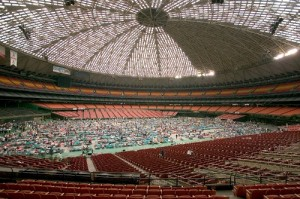 American Red Cross Hurricane Katrina victims housed at New Orleans Superdome by FEMA