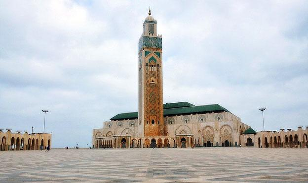 Hassan II Mosque in Casablanca city