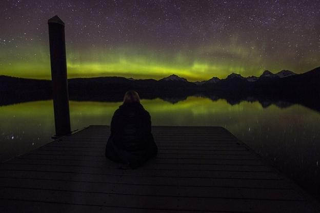 Watching Aurora Borealis 2016
