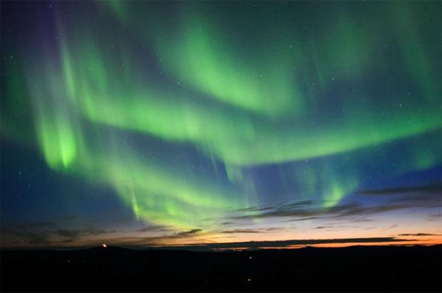Sky at night -  Aurora Borealis Effect