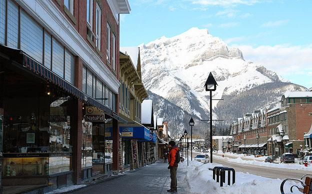 Banff city centre