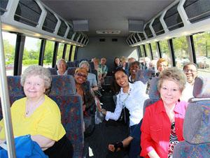 Over 70s Travel in a bus