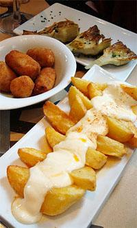 patatas bravas tapas in Barcelona