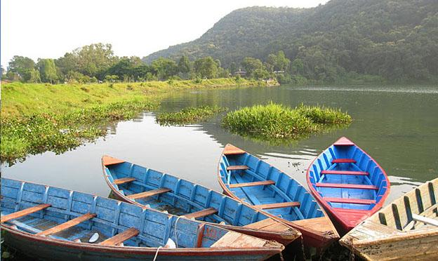 Phewa lake Pokhara in Nepal