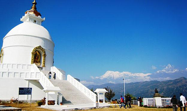 Pokhara Nepal - world peace pagoda