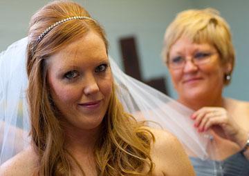 Destination wedding travel for mom and bride