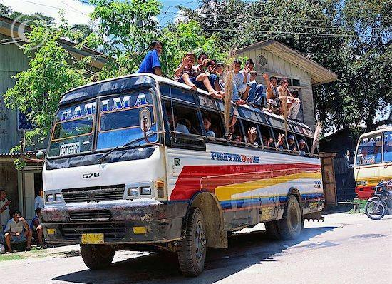 World Travel On A Shoestring - Riding a bus