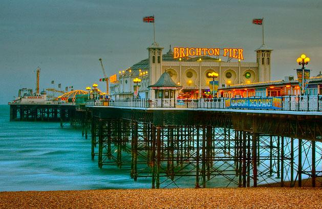 Attractions in Sussex - Brighton pier in Sussex