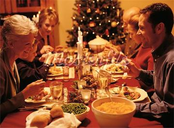 Christmas traditional family dinner