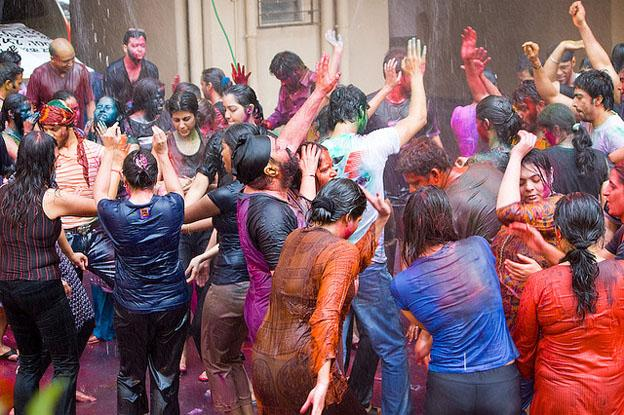Colourful festivals - Holi festival of colours in India