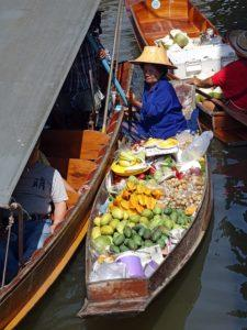 Bangkok river floating market
