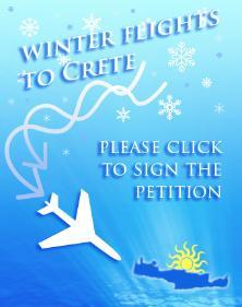 Direct winter flights to Crete
