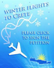 Winter flights to Crete