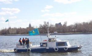 Crossing the Ishim River