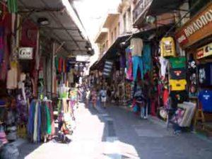 Monastiraki open flea market where you can shop various stuff