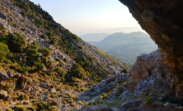 View from Za cave at the Island of Naxos