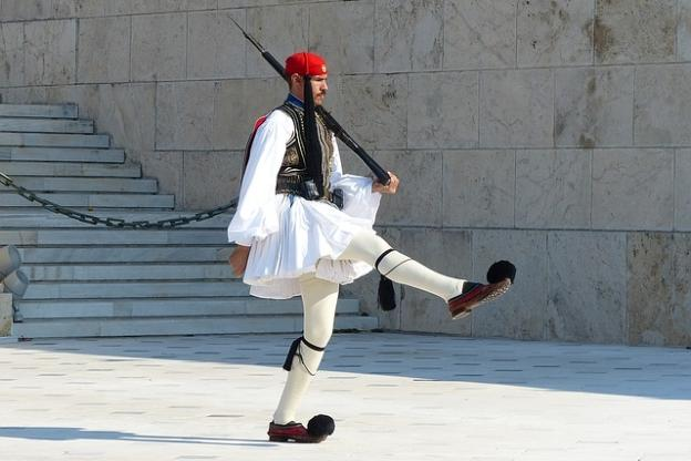 Efzonas on Syntagma sq in Athens