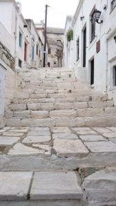 Marble streets on the island of Naxos