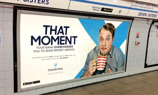 TransferWise Advert London underground