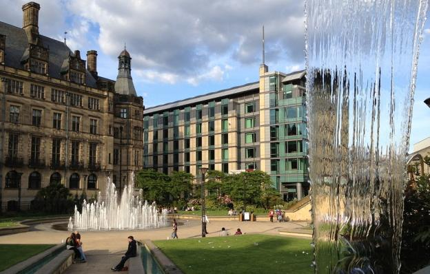 The Peace Gardens in Sheffield