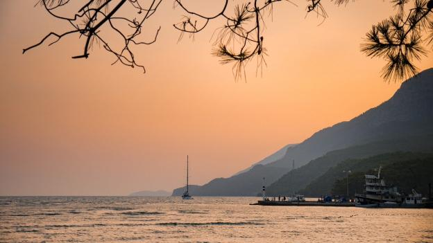 Sunset in Marmaris Turkey